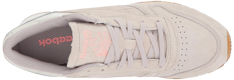 Reebok Women's CL Lthr Eb Fashion Sneaker B074V2KPW2 7 B(M) US Sand Stone/Chalk/Sour Mel