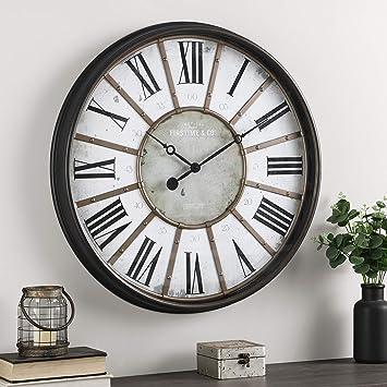 Firstime Co Roman Wall Clock 29 Oil Rubbed Bronze Furniture Decor