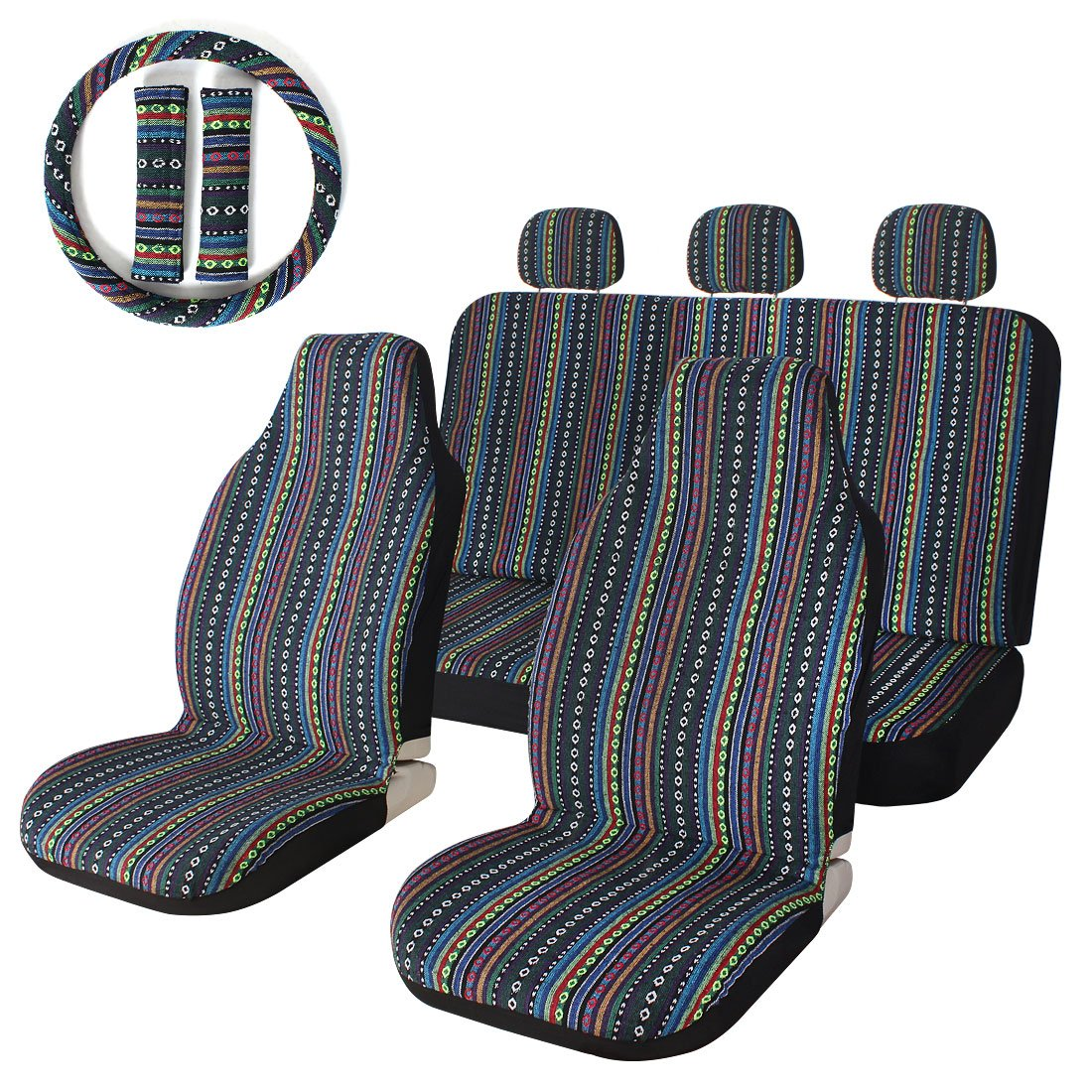 Car Seat Covers Indian Blanket Velcromag