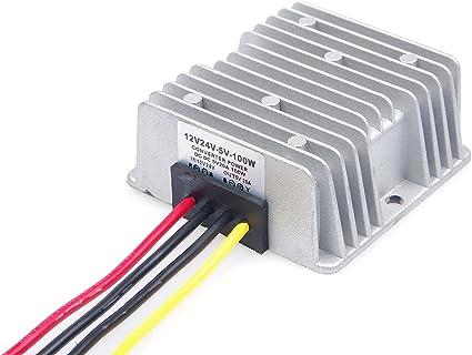 DC Power Voltage Converter 100W 20A Automotive Step Down Transformer