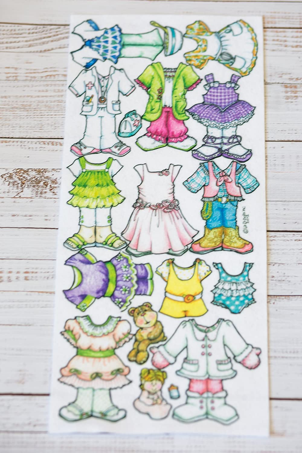 Just For Girls Clothing - Extra clothes for the 7' Book Baby - La-Di-Doll.