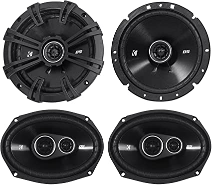 "KICKER 43DSC6704 6.75/"" Car Speakers + 2 2 KICKER 43DSC69304  6x9/"" Speakers"