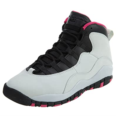 Amazon.com  Air Jordan 10 GS Vivid Pink Boys Sneakers 487211-008 ... 157b192e0