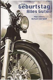 Geburtstagskarte Motorrad Amazonde Bürobedarf Schreibwaren