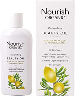 product image for Nourish Organic Replenishing Beauty Oil, For Body, Face and Hair with Pomegranate and Moroccan Argan, 3.4 Ounce