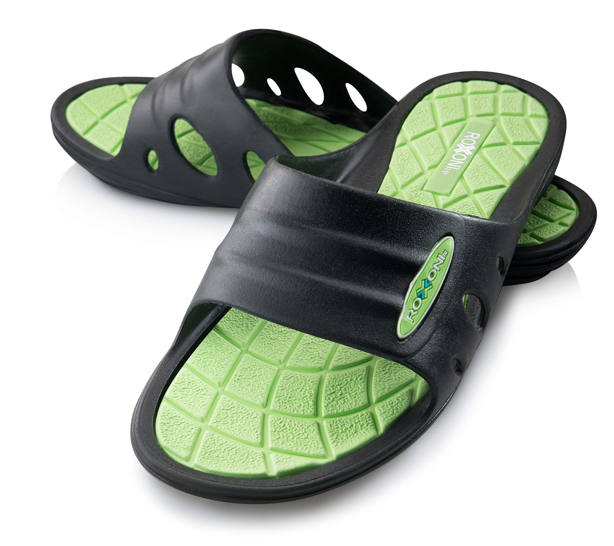 Roxoni Men/'s Rubber Sport Clogs with Breathable Mesh Upper