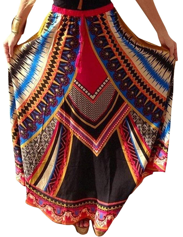 CRAVOG Neue sexy elegante Damen Rock böhmisches Kleid Sommerkleid Strandrock