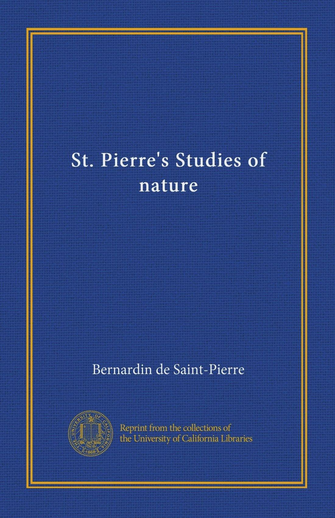 St. Pierre's Studies of nature ebook
