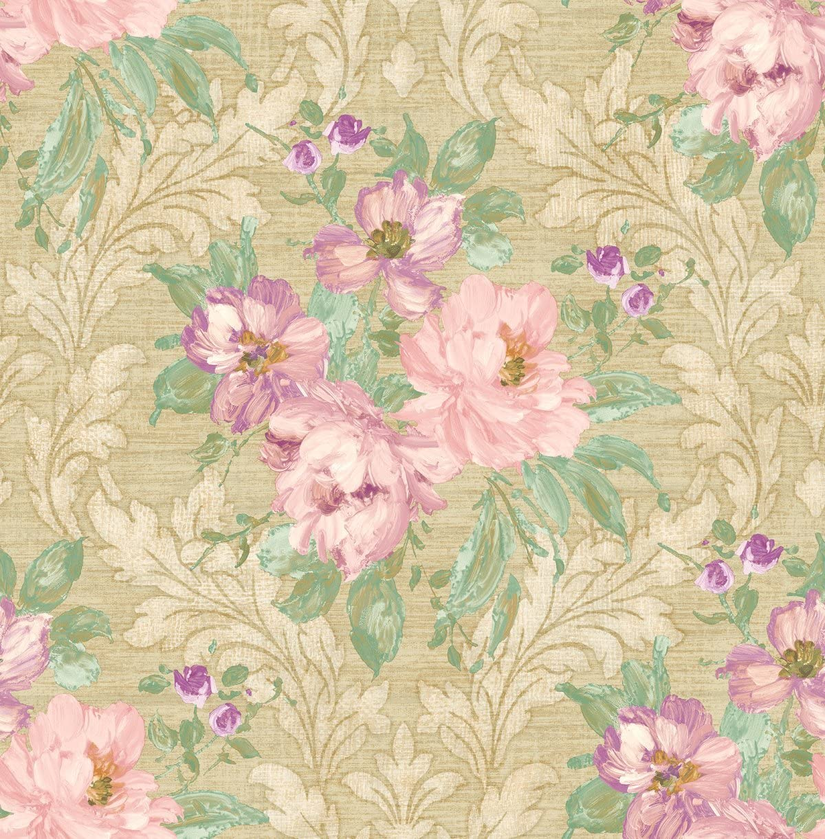 Wallpaper Floral Pink Floral Wallpaper Chinoiserie Wallpaper