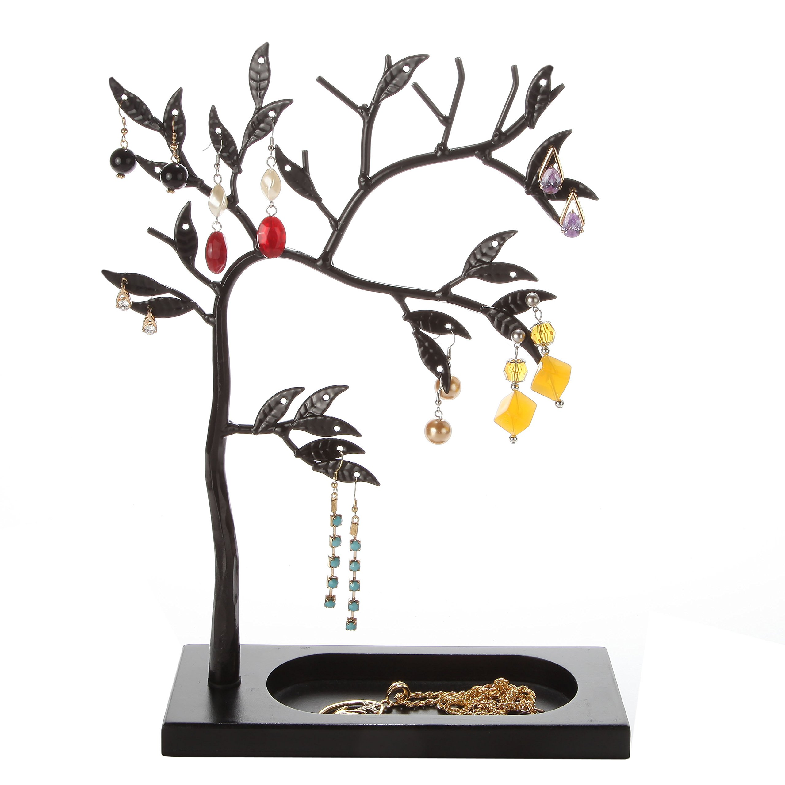 LilGift Metal Jewelry Tree / Jewelry Holder (BLACK)