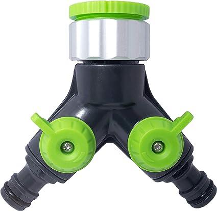 Schlauch Verteiler für Wasseranschluss Gartenschlauch Regulierbarer Ventilen DE