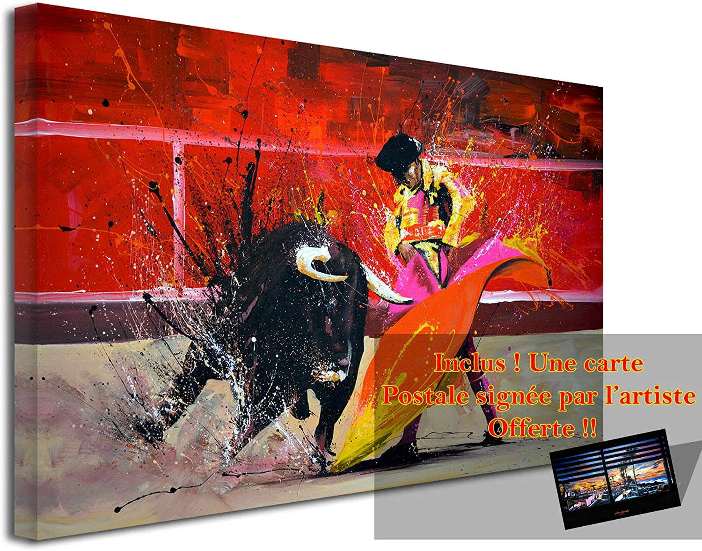 Declina - Cuadro grande con impresión sobre lienzo, decoración de salón, lienzo moderno, reproducción de pintura sobre lienzo Toro, 50 x 30 cm