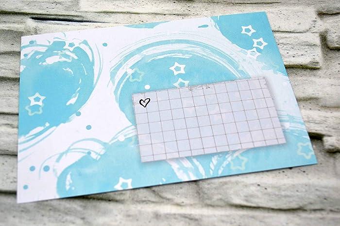 Brief Umschläge 6 Stück Hellblau Blau Weiß Sterne Kuverts