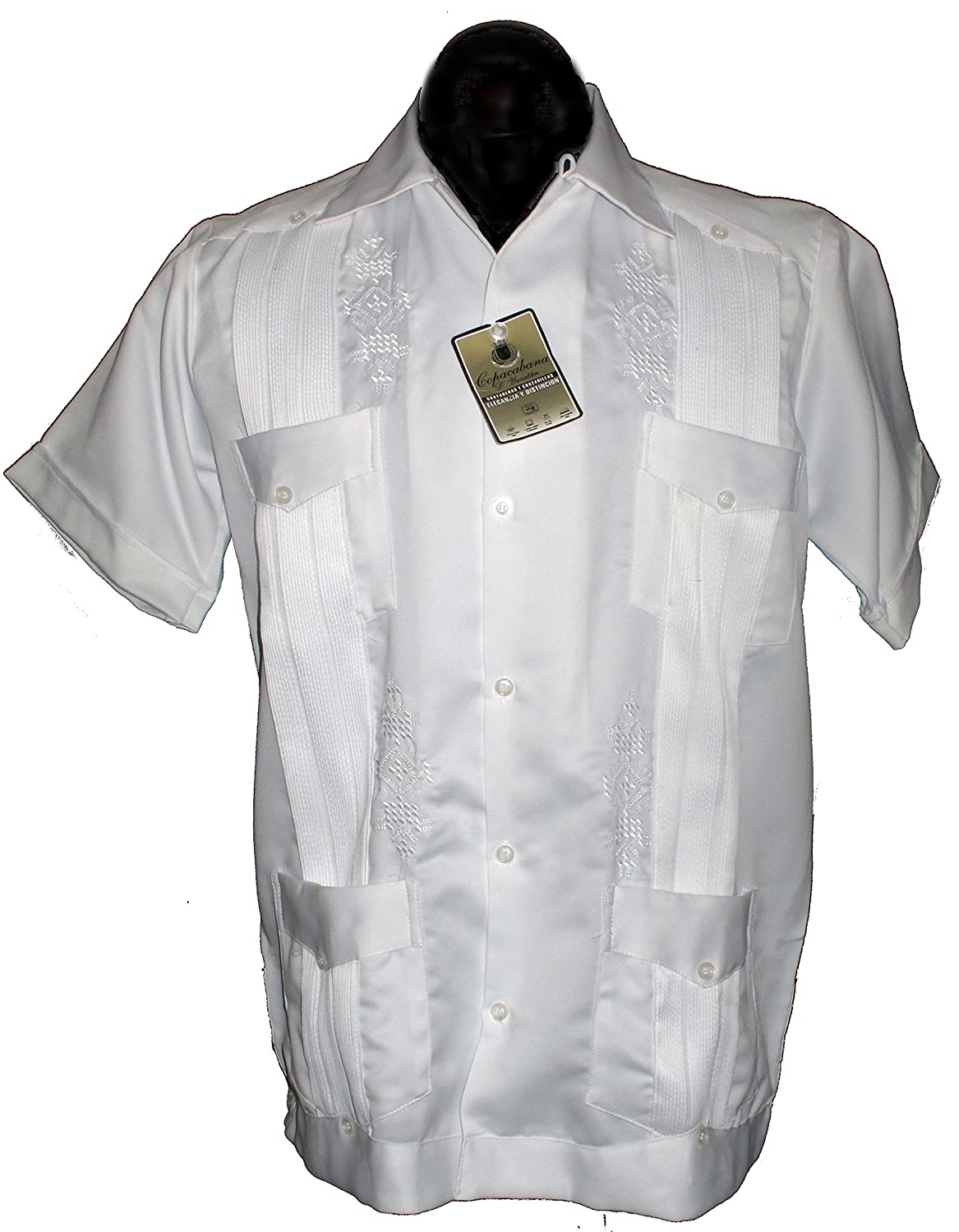 Guayabera Mens Authentic Western Mexican Wedding Shirt Copacabana Yucatan White M At Amazon Clothing Store