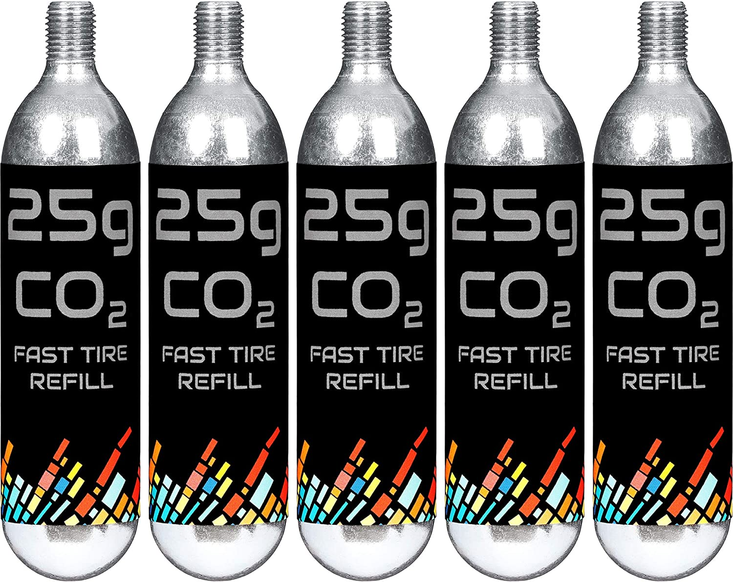 Gorilla Force | CO2 Cartridges 16g or 25g Threaded | 5 Pack