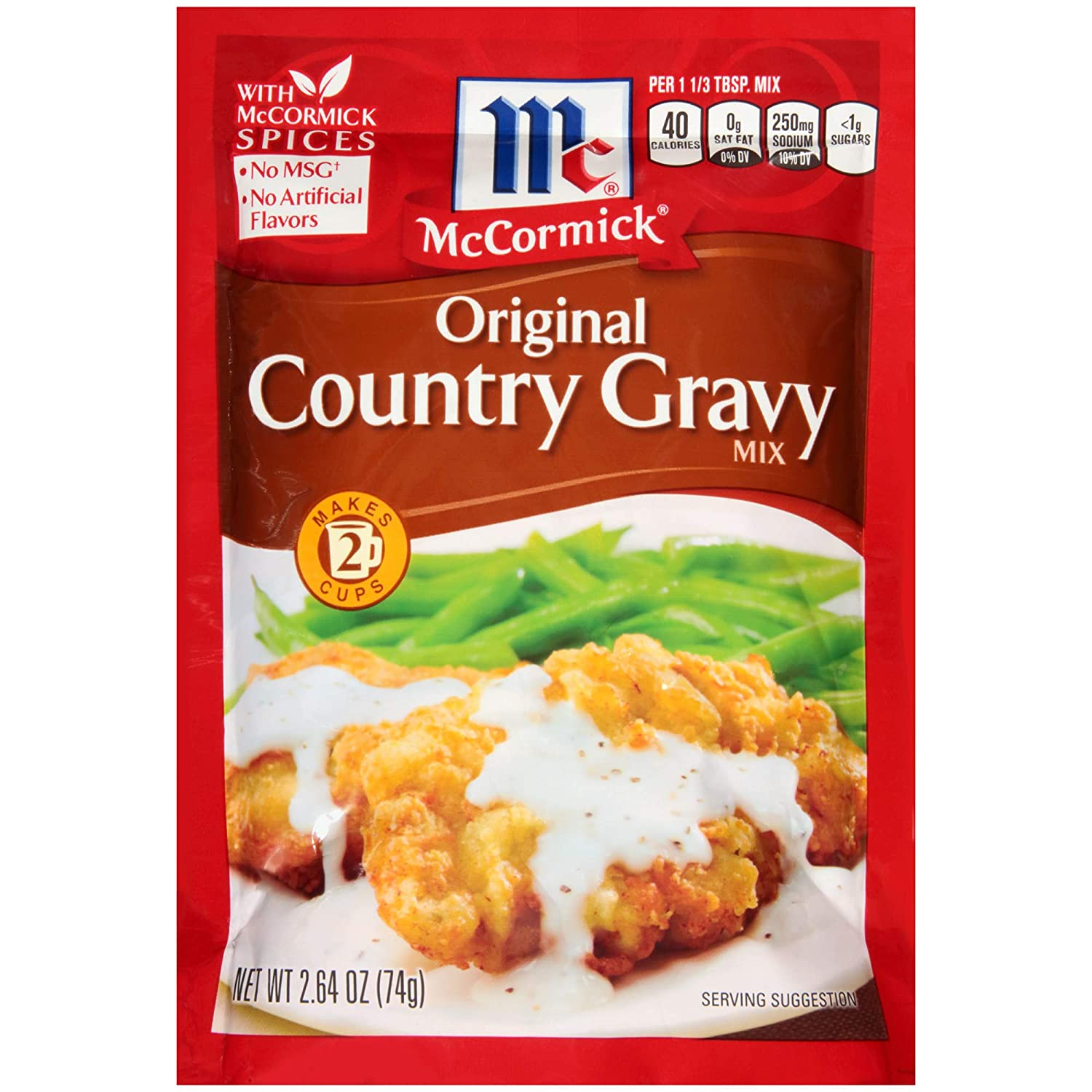 McCormick Original Country Gravy Mix (Pack of 4) 2.64 oz Packets