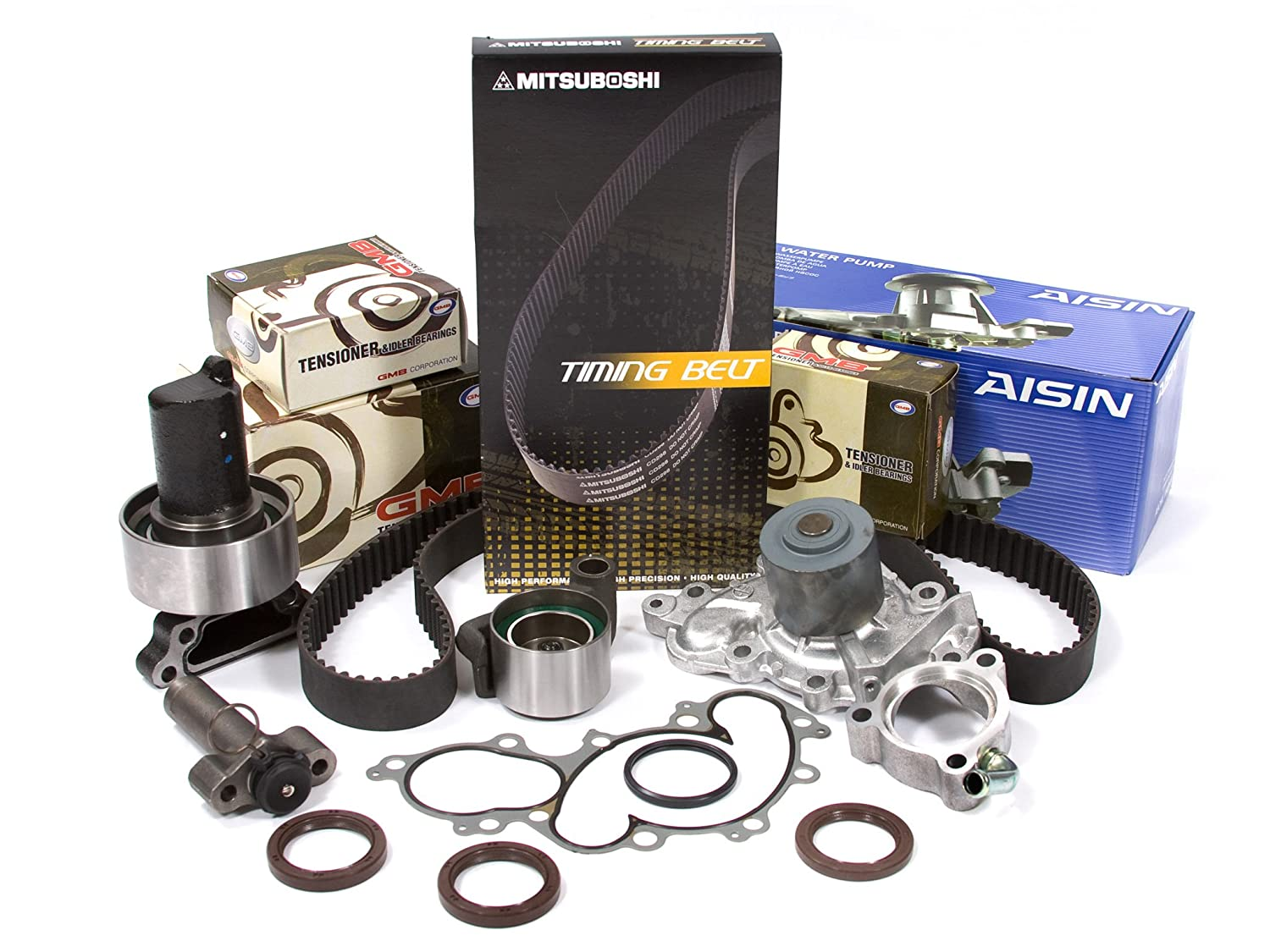 Evergreen TBK240MHWPA 93-95 Toyota 4Runner Pickup 3.0L 3VZE Timing Belt Kit AISIN Water Pump Evergreen Parts And Components