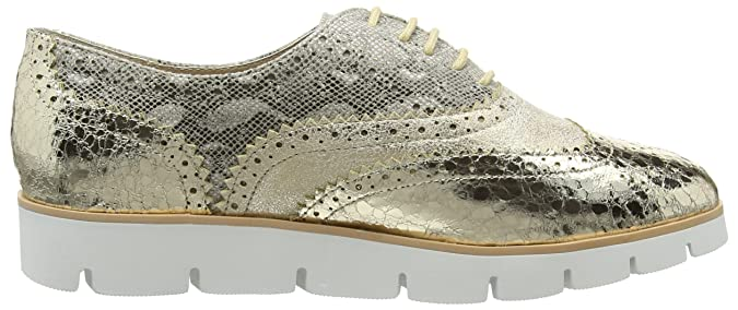Gold/Natural Lace up Shoe, Womens Low-Top Sneakers La Strada