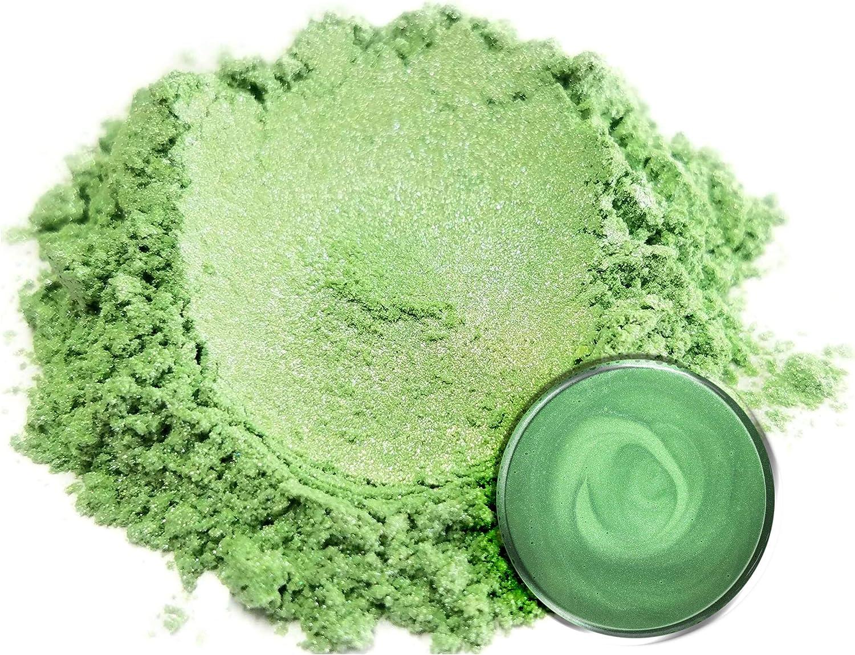 "Mica Powder Pigment ""Arashiyama Green"" (50g) Multipurpose DIY Arts and Crafts Additive | Woodworking, Natural Bath Bombs, Resin, Paint, Epoxy, Soap, Nail Polish, Lip Balm (Arashiyama Green, 50G)"