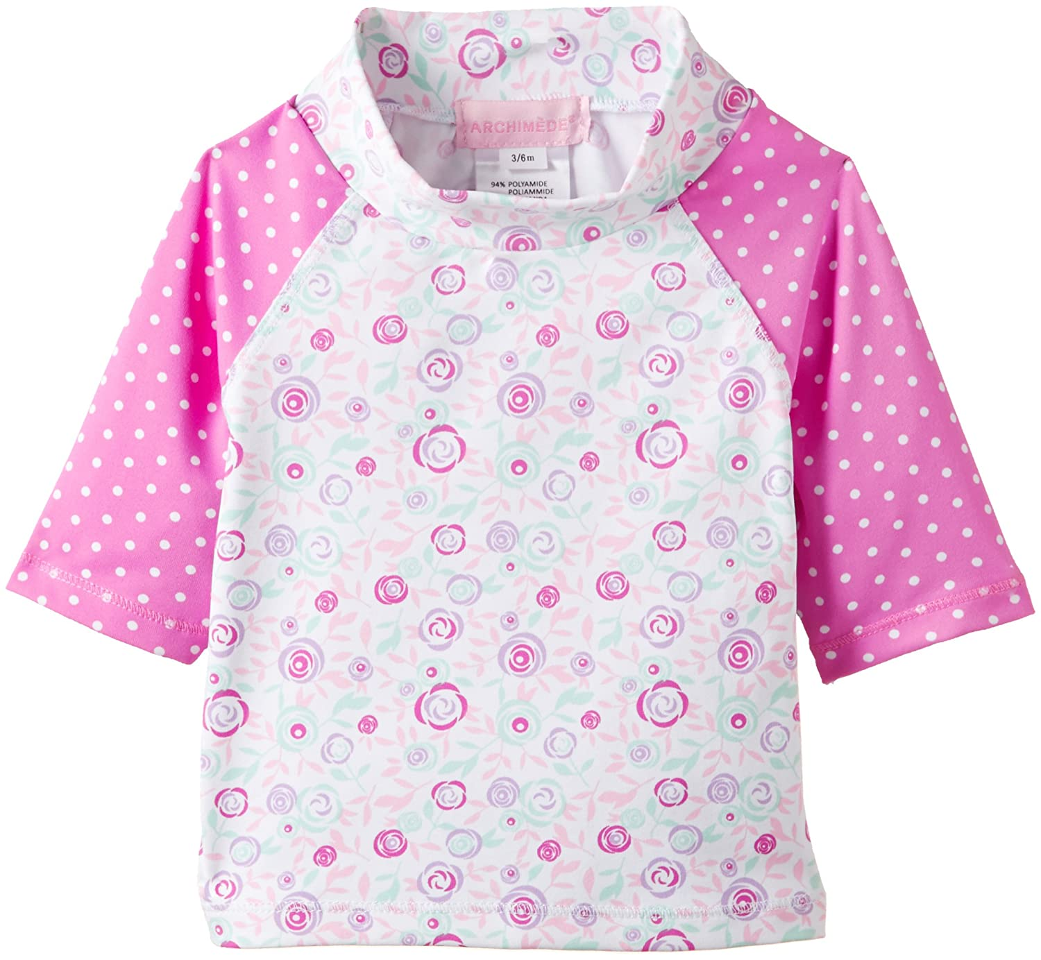 Archimede Baby - Mädchen Langarmshirt Rosa (Pink/White) A502011