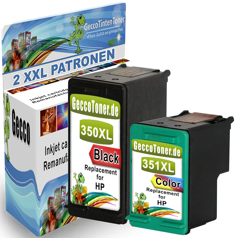Spetan 2 Cartucho de Tinta Reemplazo para HP 350 351 XL con HP Photosmart C4280 C4270 C4480 C4472 C5280 C4380 C5890 C6280 C7280 C5180 C4580 C5580 ...