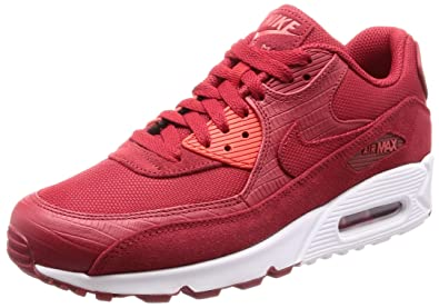 the best attitude best fashionable style Nike Air Max 90 Premium Mens Shoes Gym Red/Gym Red/White 700155-602