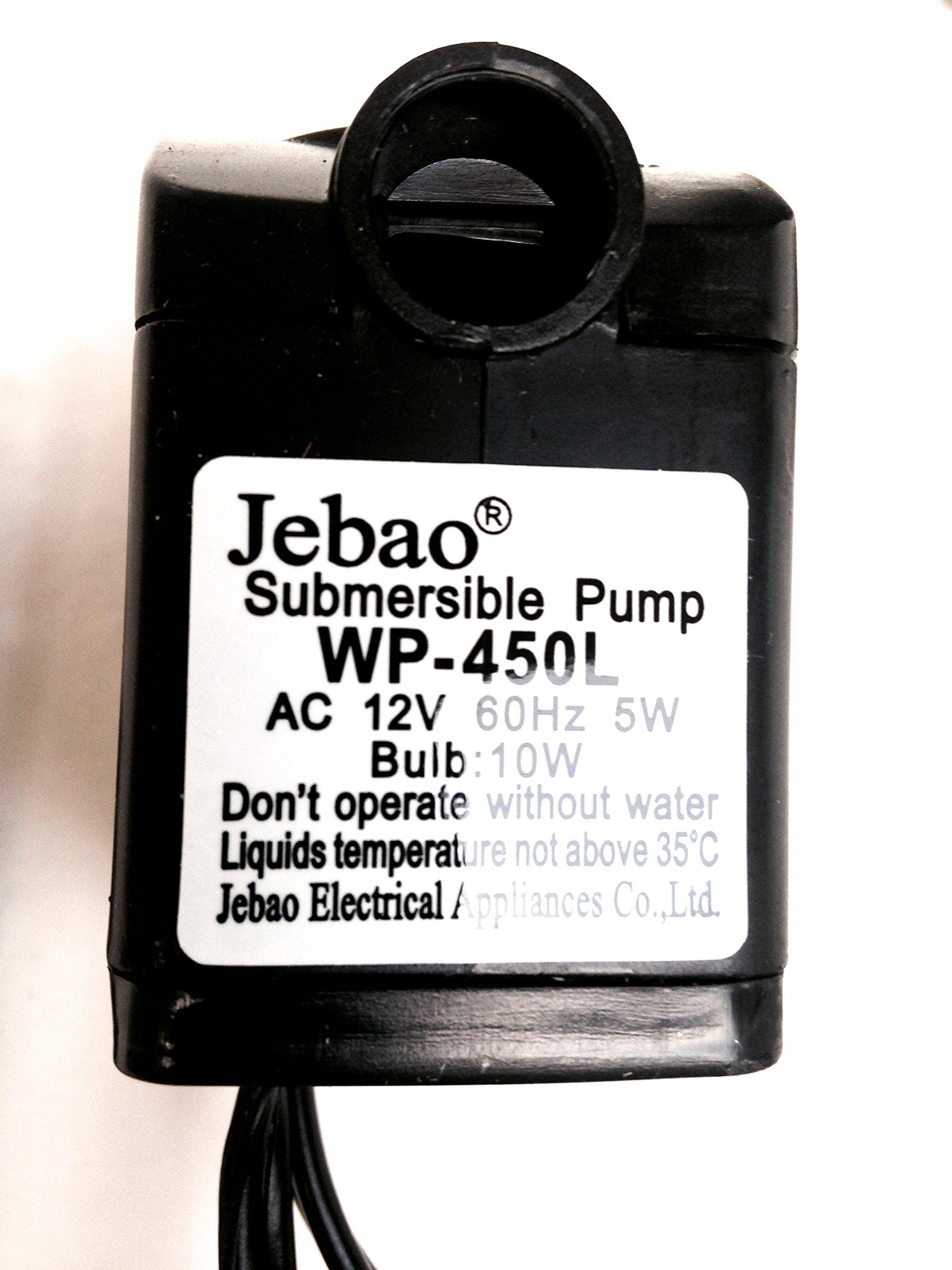Jebao WP450 Pump 118GPH White LED Ring