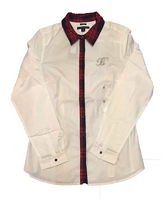 Amazon.com: Tommy Hilfiger Fitted de la mujer Button-Down ...