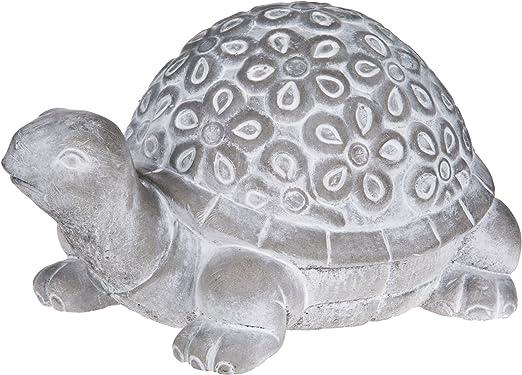 Estatua de jardín de tortuga – Cemento adorno de césped – 8