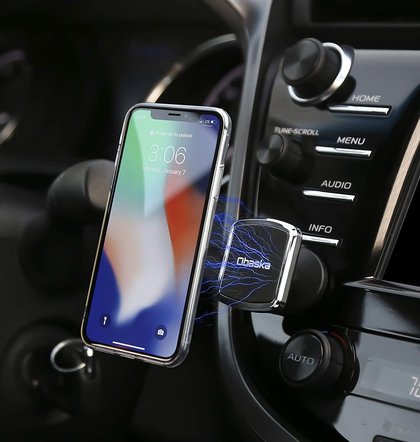 Obaska Magnetic Phone Car Mount Universal Dashboard Phone Holder for Car Compatible with iPhone Xs Max XR X 8 7 6S 6 Plus Samsung Galaxy S9 S8 S7 S6 /& All Smartphones 4351670138