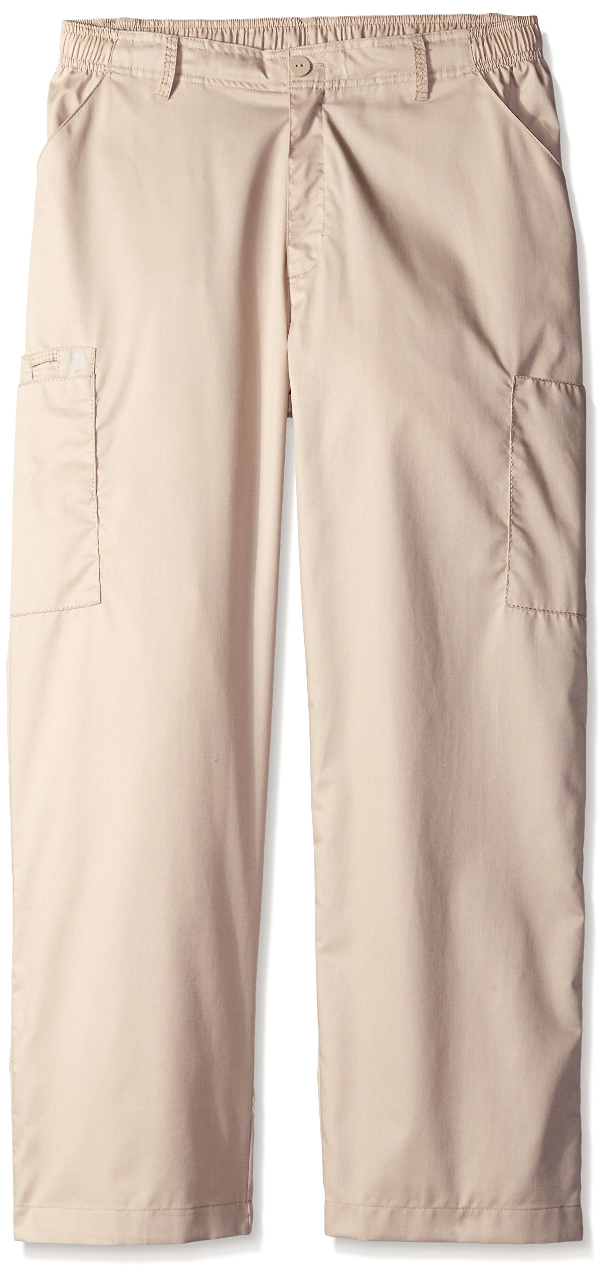 WonderWink Men's Petite Wonderwork Cargo Pant Short, Khaki, Medium