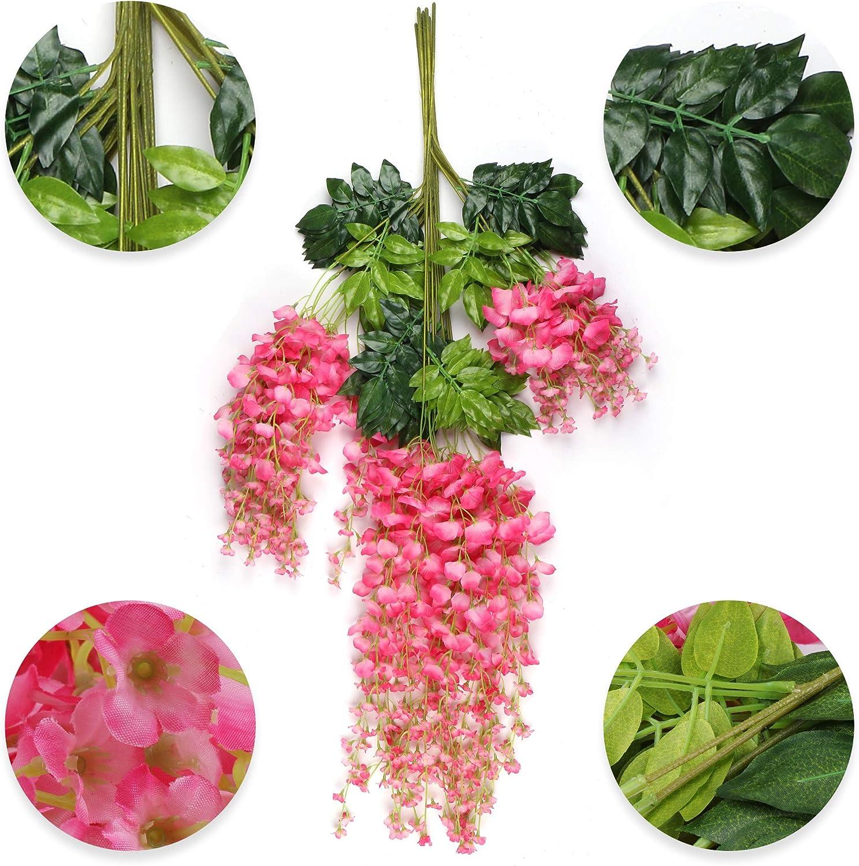 Amazon.com: Miss Bloom - Guirnalda de flores artificiales de ...