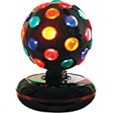 Global Gizmos 6-inch Roatating Disco Ball Light, Multi-Coloured