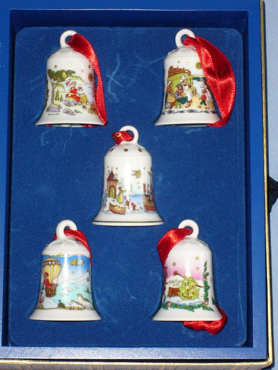 Hutschenreuther - Setzkasten mit 5 Miniglocken 1998-2002 - - - Limitierte Auflage 20.000 Exemplare - NEU OVP - Miniglocke - Mini-Glocke afc1fc