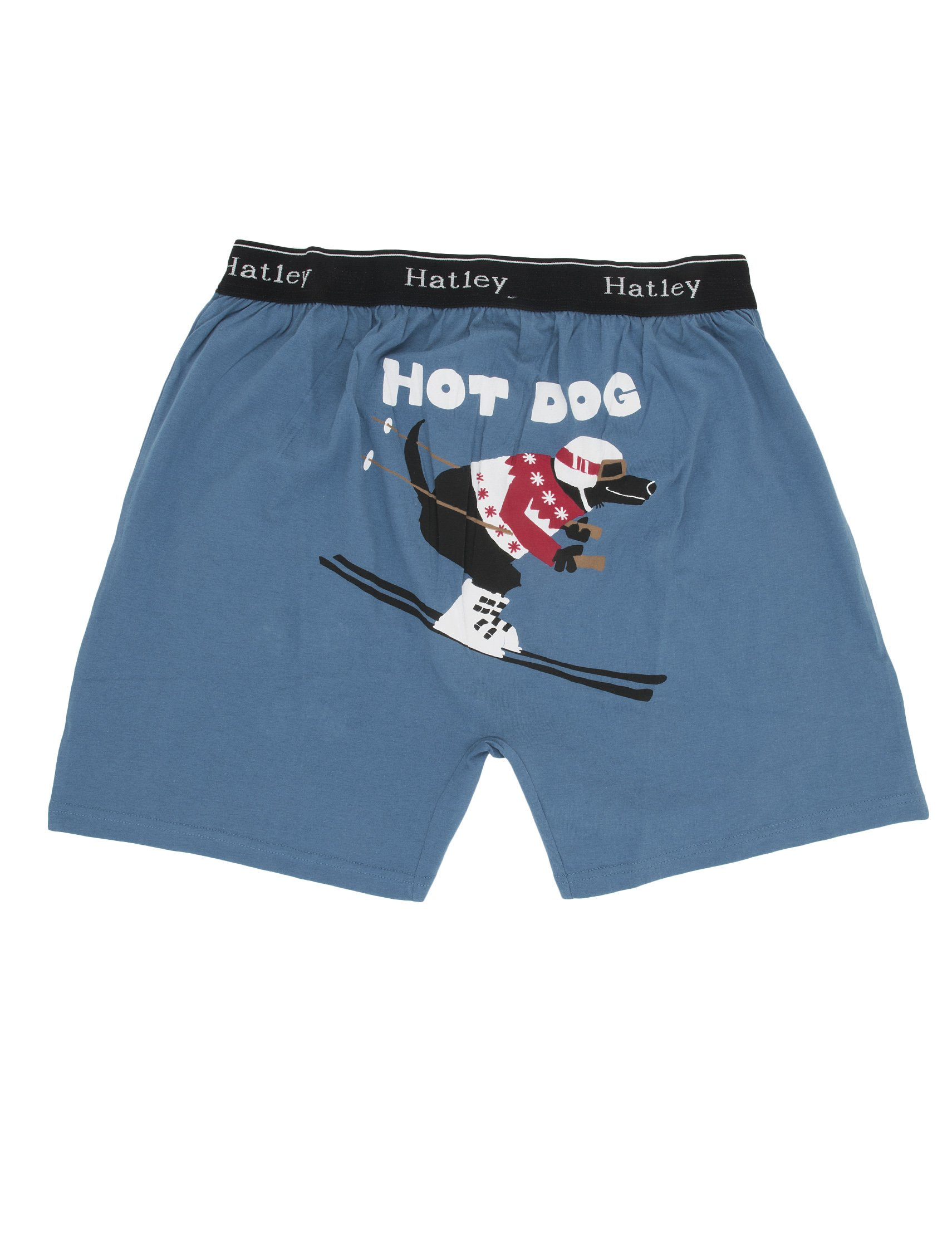 Hatley ''Hot Dog'' Men's Cotton Jersey Boxer Shorts (Small)