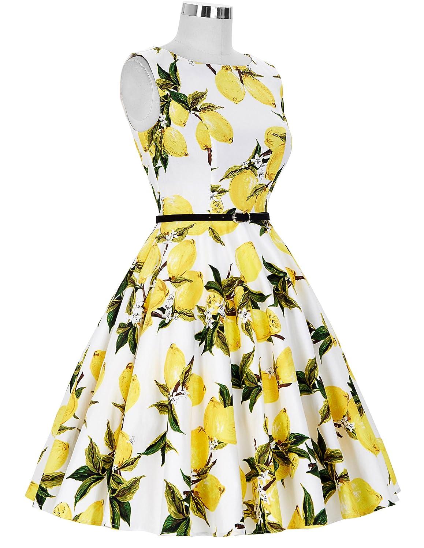 GK Vintage Dress 50s Rockabilly Kleid Festliches Kleid Partykleider Cocktailkleider GD6086 New