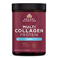 Multi Collagen Protein Powder, Vanilla, Formulated by Dr. Josh Axe, 5 Types of Food...