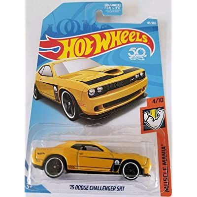 Hot Wheels 2020 50th Anniversary Muscle Mania '15 Dodge Challenger SRT 143/365, Yellow: Toys & Games