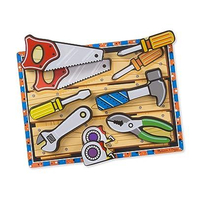 Melissa & Doug Tools Chunky Puzzle: Melissa & Doug: Toys & Games