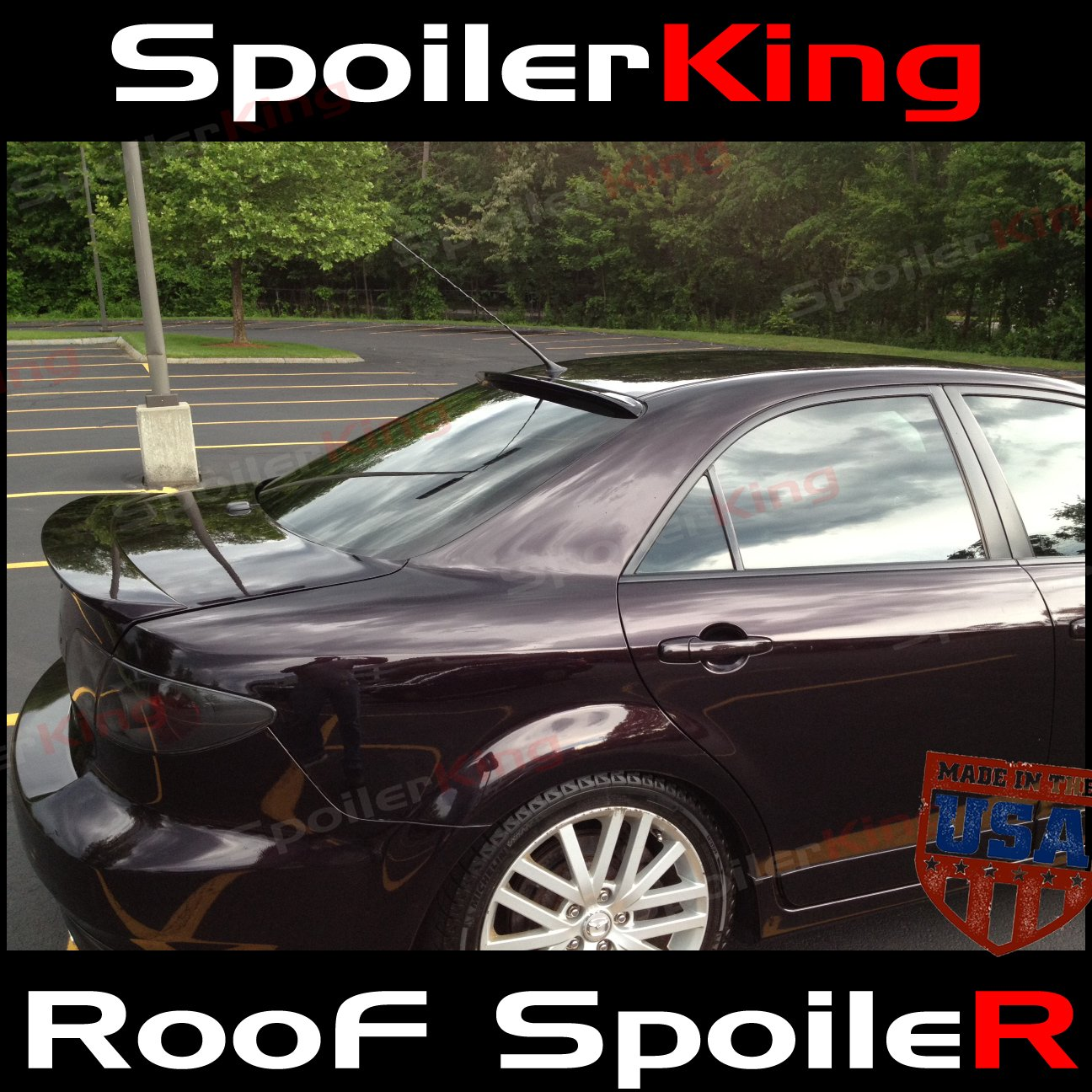 Tss Daily Spoiler >> Mazda 6 2002 2008 4dr Sedan Rear Window Roof Spoiler 284r