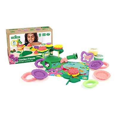 Green Toys SSDFM-1322 Sesame Street Garden Friends Dough Activity Set, Multi: Toys & Games [5Bkhe0205616]
