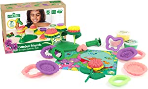Green Toys SSDFM-1322 Sesame Street Garden Friends Dough Activity Set, Multi
