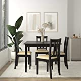 Dorel Living Redmond 5-Piece Traditional Dining Set, Black/Beige