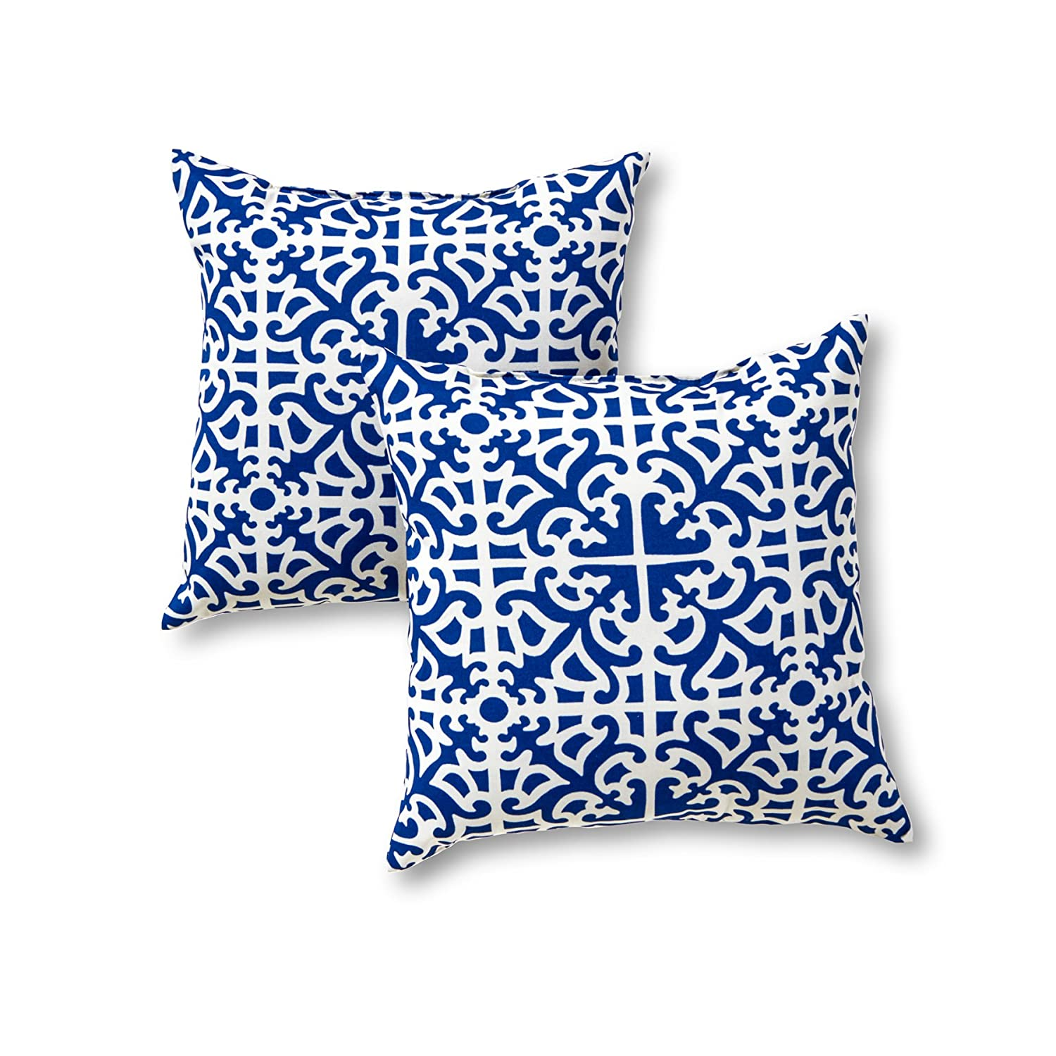 Indoor Outdoor Decorative Pillows : Home Indoor Outdoor Accent Pillows Decorative Designer Decorator Set of 2 New eBay
