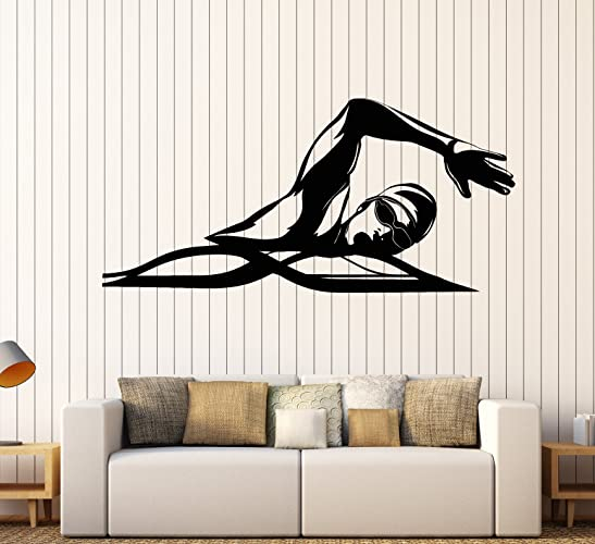 Amazon.com: Vinyl Wall Decal Swimming Pool Water Sports ...