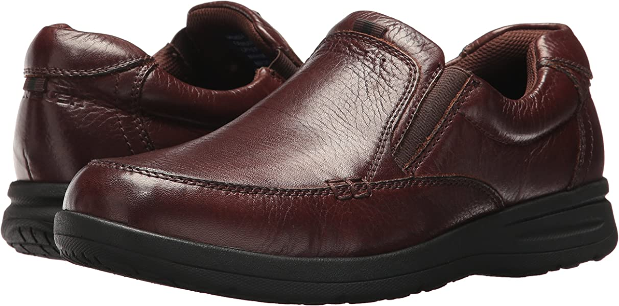 70e9ab616c5c58 Nunn Bush Men Cam Slip On Slip-On Loafer Brown 8. Back. Double-tap to zoom