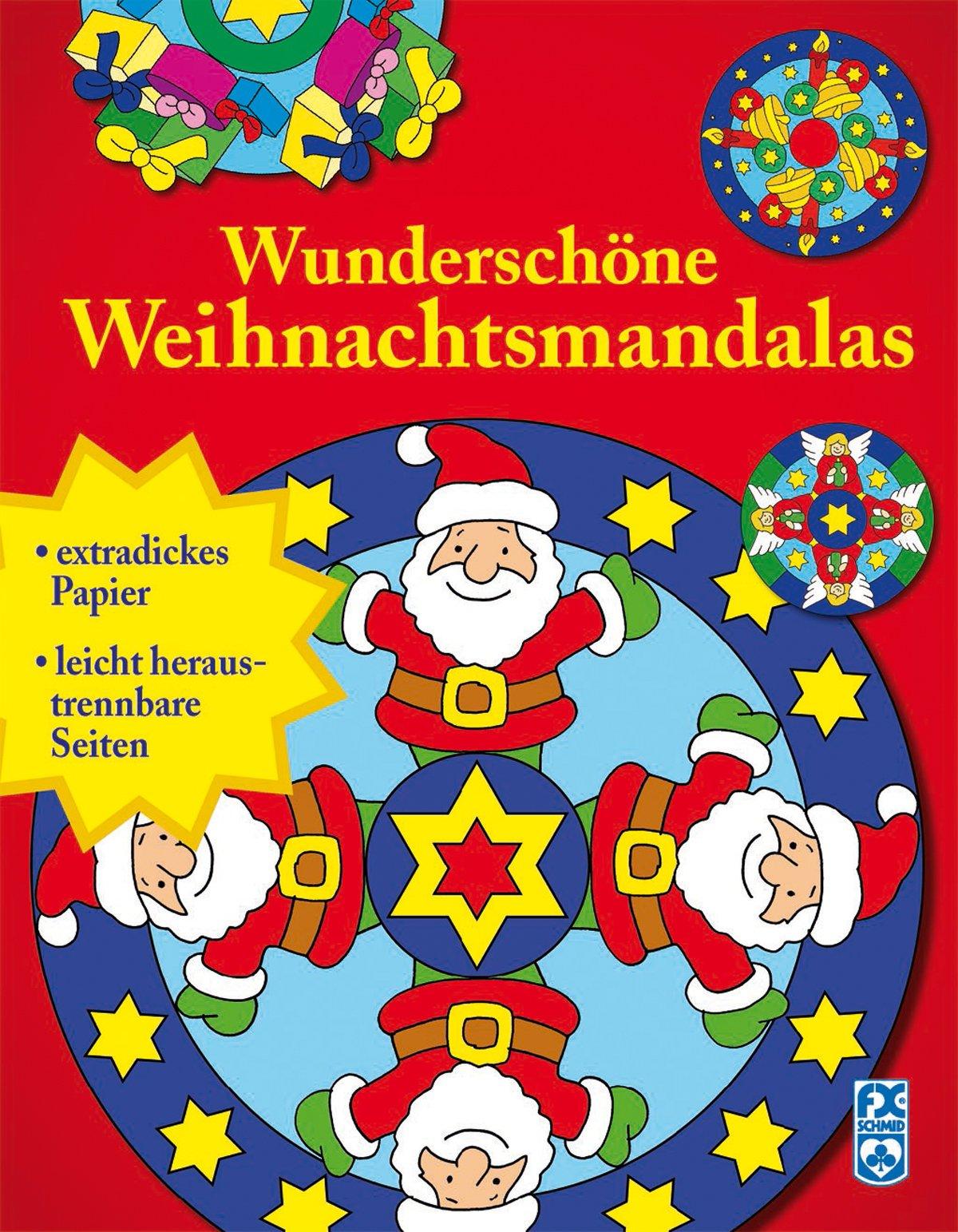 Wunderschöne Weihnachtsmandalas