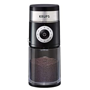 KRUPS GX550850 Precision Grinder Flat Burr Coffee for Drip/Espresso/PourOver/ColdBrew, 12 cup, Black