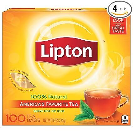 Lipton Bolsas de té negro, 100% té natural, 100 unidades ...