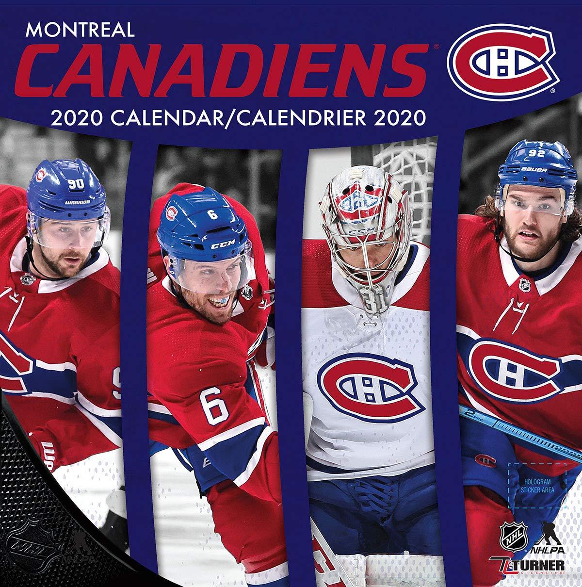 Montreal Canadiens 2020 Calendar Calendrier 2020 Lang Companies Inc 9781469369563 Books Amazon Ca